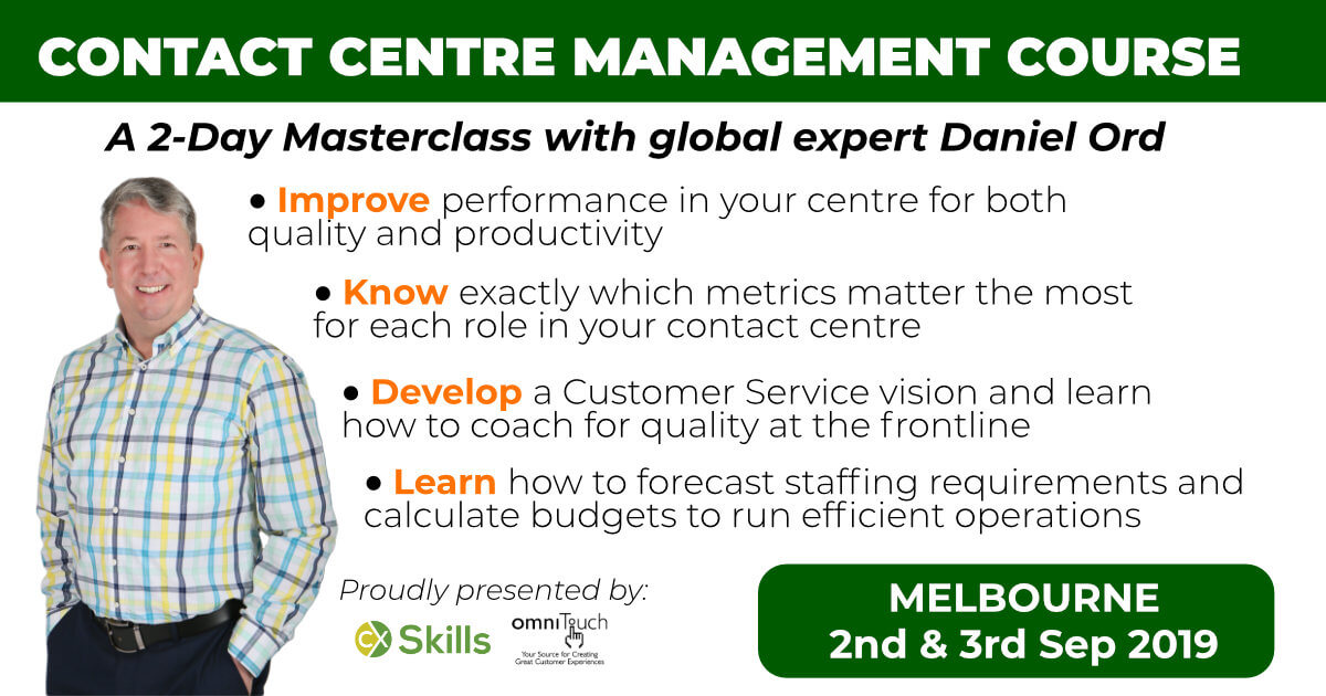 Contact Centre Management Training Course in Melbourne 2019