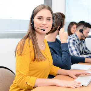 Call centre agent sales training